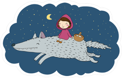 Little Red Riding Hood Fairy Tale Sticker