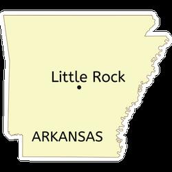 Little Rock City Location On Arkansas State Map Sticker