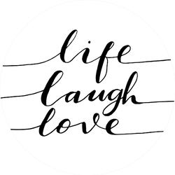 Live, Laugh, Love. Hand Lettered Quote. Modern Calligraphy Sticker