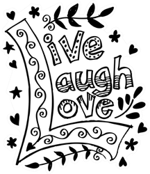 Live Laugh Love Hand Lettered Sticker