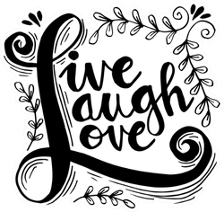 Live Laugh Love Hand Lettered Words Sticker