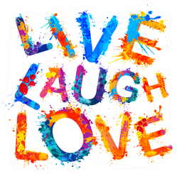 Live. Laugh. Love. Splash Paint Sticker