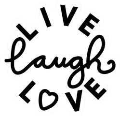 Live, Laugh, Love Two Font Sticker