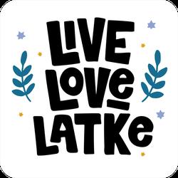 Live Love Latke Hanukkah Sticker
