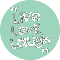 Live Love Laugh Cute Design On Green Sticker
