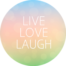 Live Love Laugh Fresh Colorful Blurred Background Sticker