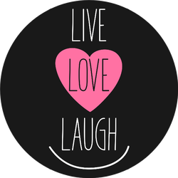Live, Love, Laugh Heart And Smile Sticker