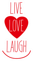 Live, Love, Laugh Heart Sticker