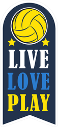 Live Love Play Volleyball Sticker