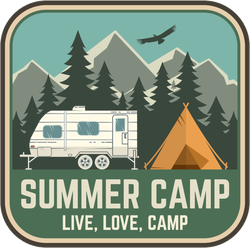 Live, Love, Summer Camp Sticker