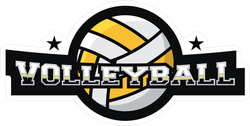 Volleyball 3D Text Sticker