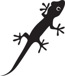 Lizard Chameleon Gecko Silhouette Sticker