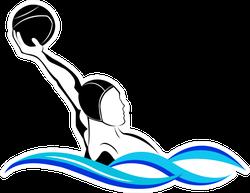 Lobbing Water Polo Sticker
