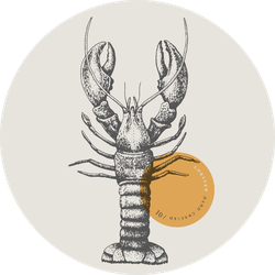 Lobster, Drawn By Graphic Lines Sticker
