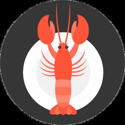 Lobster In Dish Sticker
