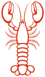 Lobster Outline Sticker