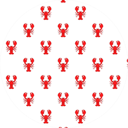 Lobster Pattern Illustration Sticker