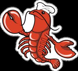 Lobster Wearing A Chef Hat Sticker
