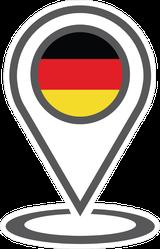 Location Germany Map Marker Sticker