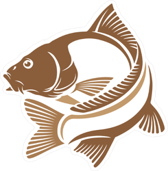 Logo Carp Fish Sticker