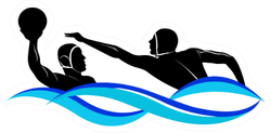 Logo Water Polo Two Players Sticker