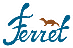Logo With A Ferret Silhouette Sticker