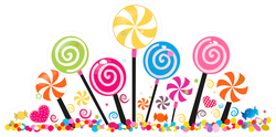 Lollipop Candy Banner Sticker