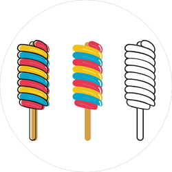 Lollipop Ice Cream Candy Stickers