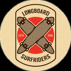 Long Board Skateboarding Sticker