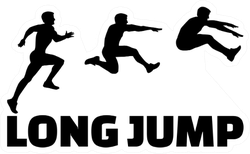 Long Jump Sequence With Lettering Sticker