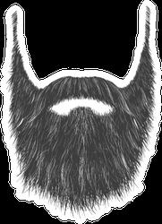 Long Man Beard With No Face Sticker