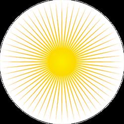 Long Rays Sun Sticker