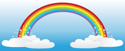 Long Skinny Rainbow Sticker