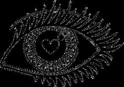Look Of Love Anime Eye Sticker
