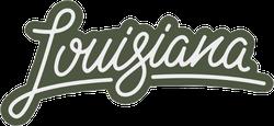 Louisiana Brush Lettering Sticker