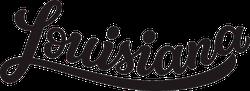 Louisiana Calligraphy Sticker