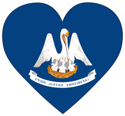 Louisiana Love Flag Sticker