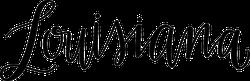 Louisiana Script Sticker