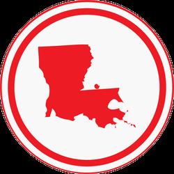 Louisiana State Circle Sticker