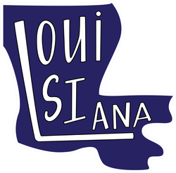 Louisiana State Outline Text Sticker
