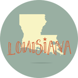 Louisiana Text And State Sticker
