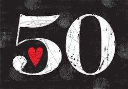 Love 50 Sticker