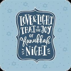 Love And Light Joy Of Hanukkah Night Sticker