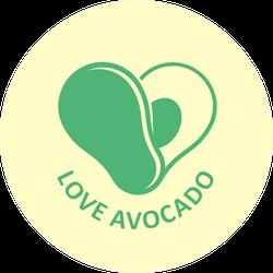 Love Avocado Sticker
