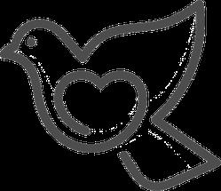 Love Dove Logo Sticker