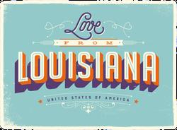 Love From Louisiana Sticker