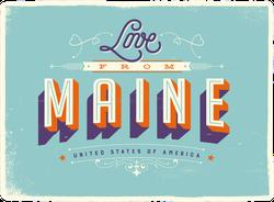 Love From Maine Sticker