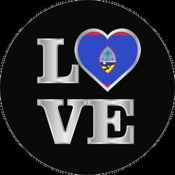 Love Guam Flag Sticker