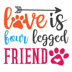 Love Is Four Legged Friend Sticker