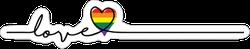 Love Is Love Cursive Heart Sticker